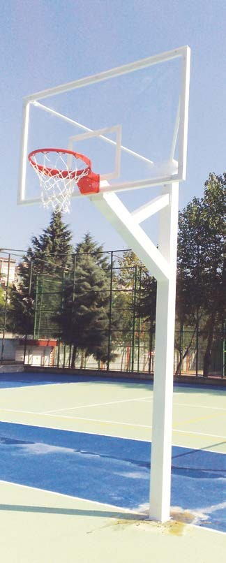 Basketbol Potası, Tek Direk basketbol potası, Panya, Sabit Çember,