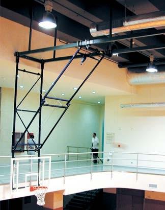 basketbol potası, tavana bağlı basketbol potası, tavandan uzanan basketbol potası,