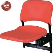 tribün koltuğu, yakamoz koltuk, yakamoz, colorado kırmızısı,