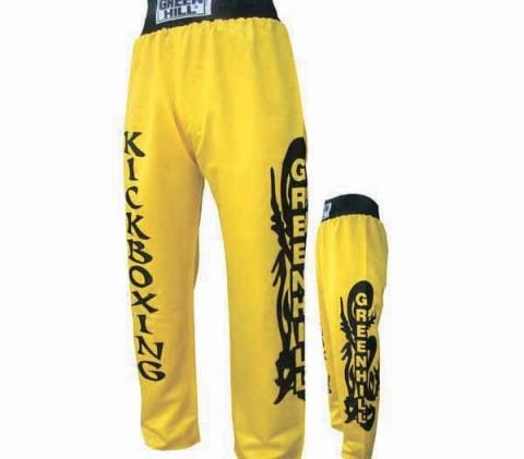 kickboks pantolonu, d-308, sarı pantolon,