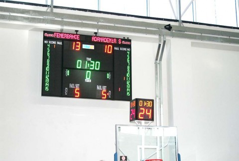 3500T, FİBA Onaylı Basketbol Skorbordu,